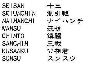 Isshinryu Kata Kanji como objeto inteligente-1