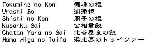 Isshinryu Kobudo Kata kanji como objeto inteligente-1