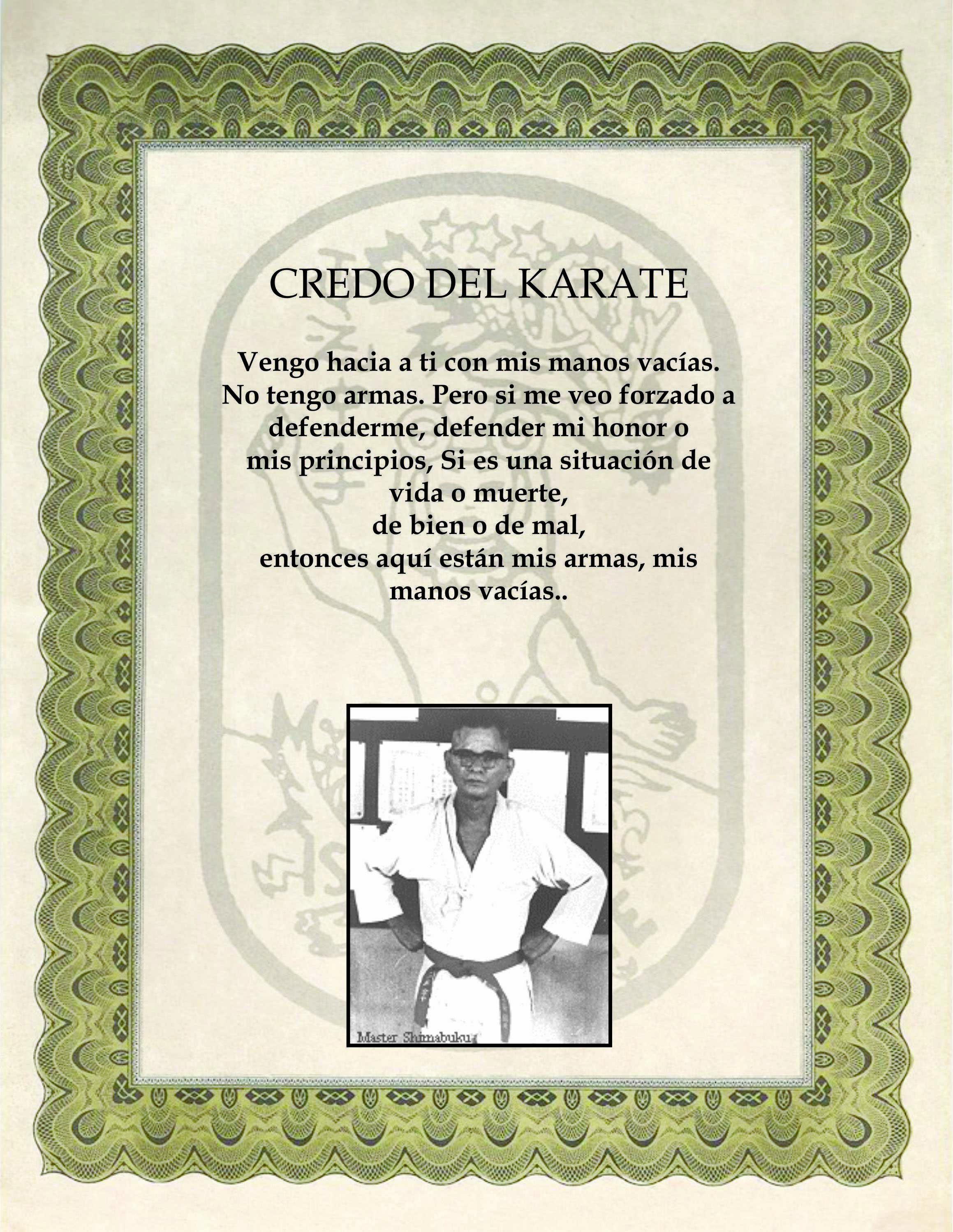 credo del karate como objeto inteligente-1